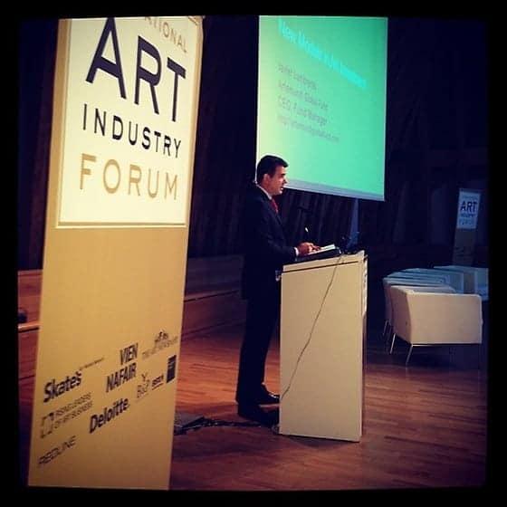 Javier Lumbreras at the International Art Industry Forum